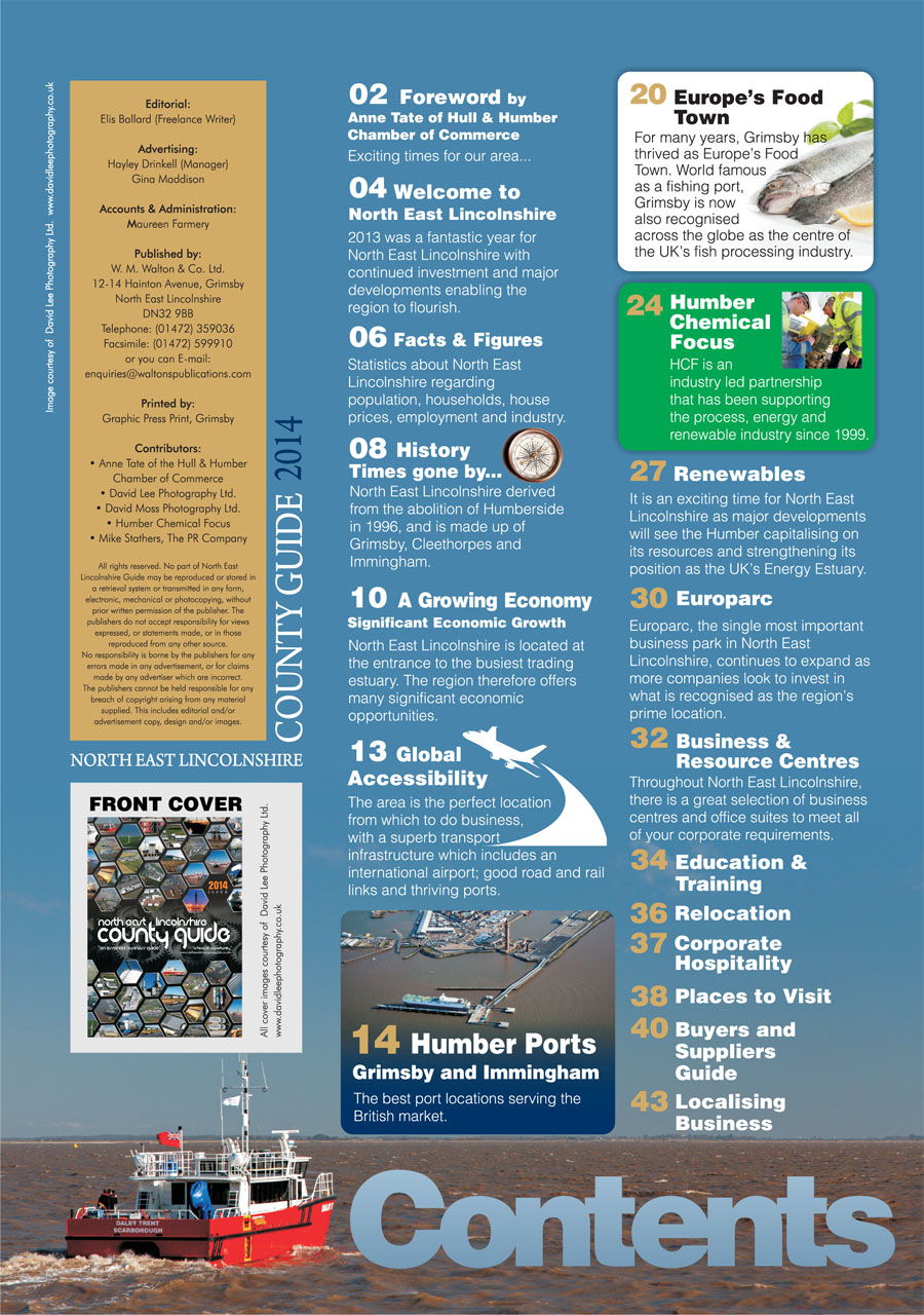 North East Lincolnshire County Guide 2014 Contents Page