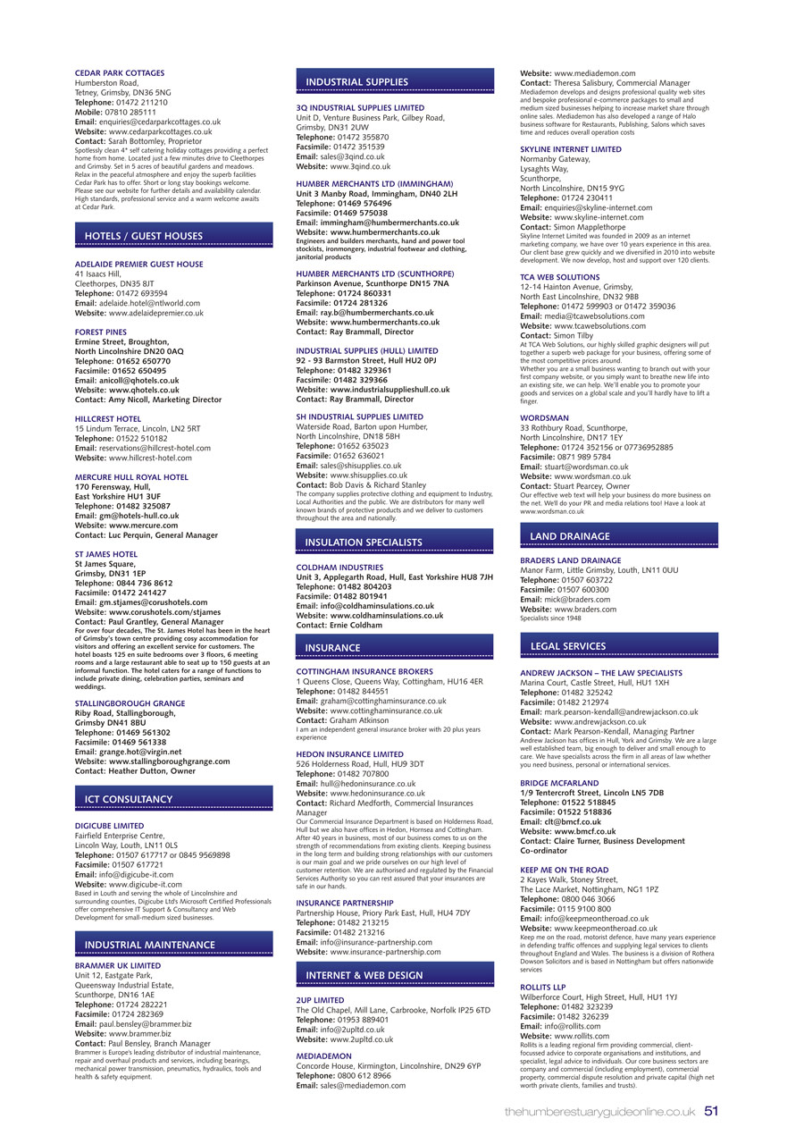 Humber Estuary 2014 Guide page 51
