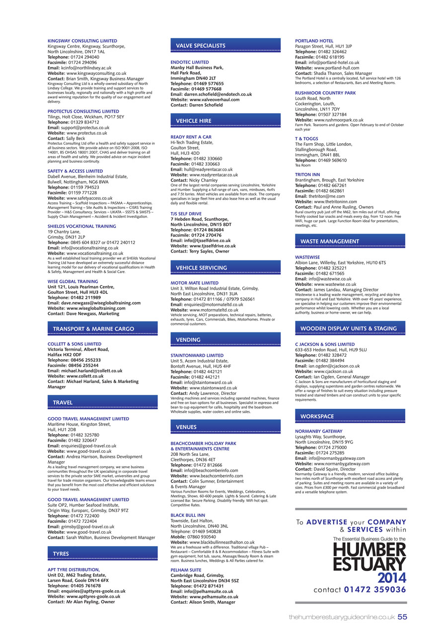 Humber Estuary 2014 Guide page 54