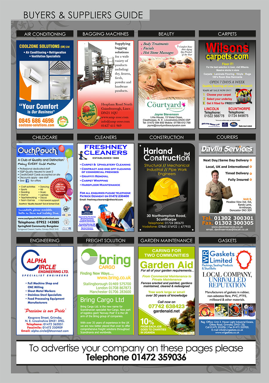 North East Lincolnshire County Guide September 2014 Buyers & Suppliers Guide page 1