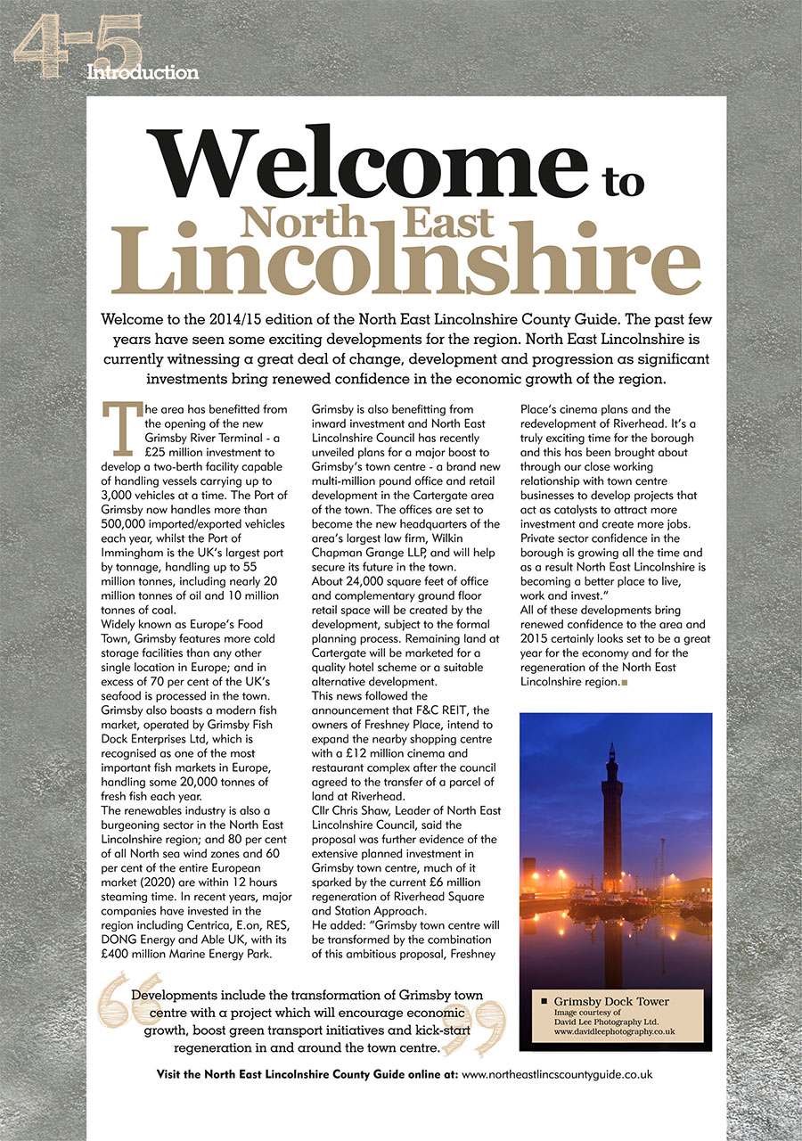North East Lincolnshire County Guide September 2014 page 4