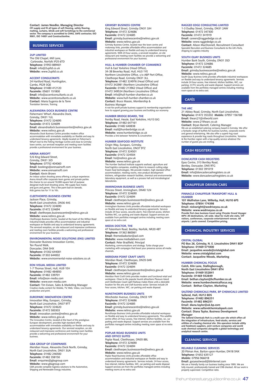 Humber Estuary 2014 Guide page 47
