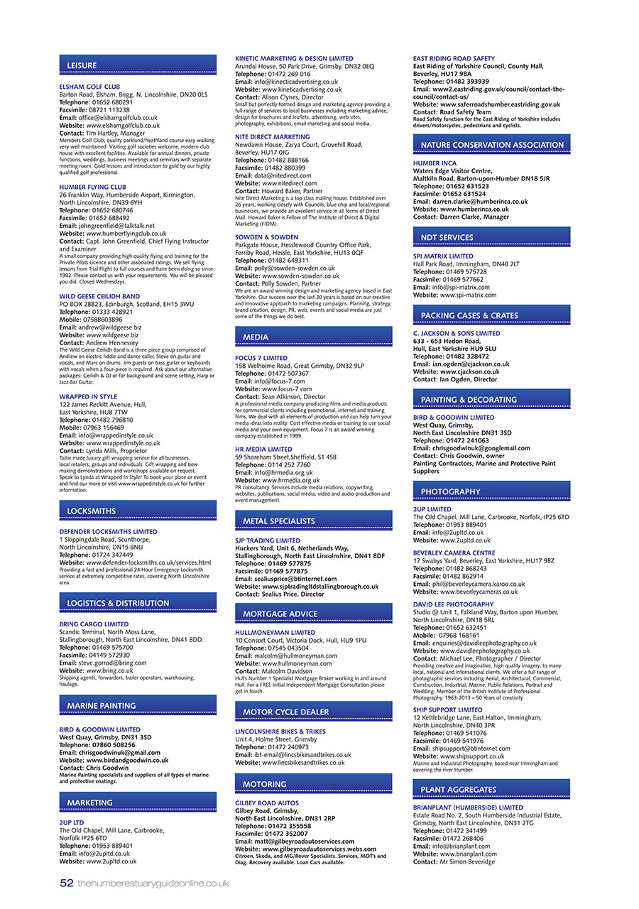 Humber Estuary 2014 Guide page 52
