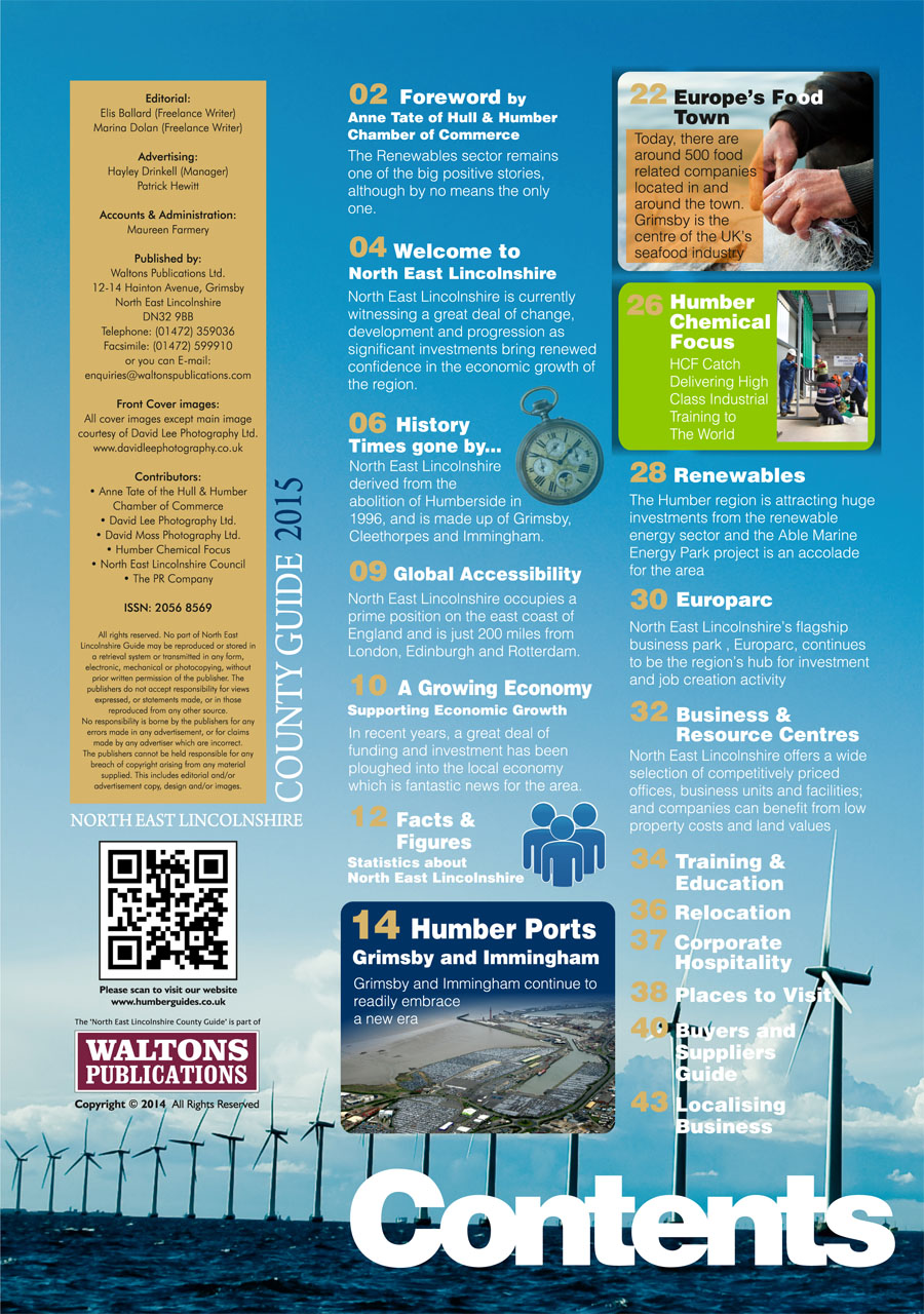North East Lincolnshire County Guide September 2014 Contents Page